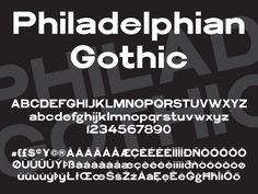 Fresh Free Font Of The Day : Philadelphian Gothic