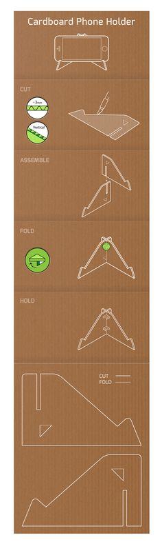 DIY Cardboard Phone Holder on Behance                                                                                                                                                                                 More