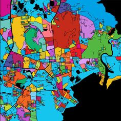 Phuket, Thailand, Colorful Vector Map on Black by Hebstreits #stockimage #design #map #colorful #vector