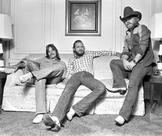 ZZ Top, in the days before long beard growth. How ironic is it that the only guy in the band who doesn't have a beard now, is Frank Beard?