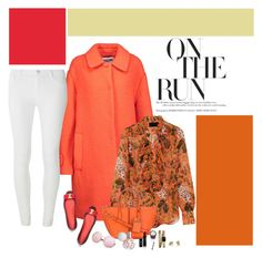"""Shades of Orange"" by mandeerose ❤ liked on Polyvore featuring Moschino, J.Crew, Tory Burch, Tod's, Dorothy Perkins, Chanel and Ruth Tomlinson"
