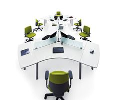 Workstation desk / contemporary / laminate / with storage COOL Actiu Cool Office Desk, Office Decor, Office Cupboards, Office Screens, Office Pods, Dream Desk, Work Station Desk, Work Stations, Desk Layout