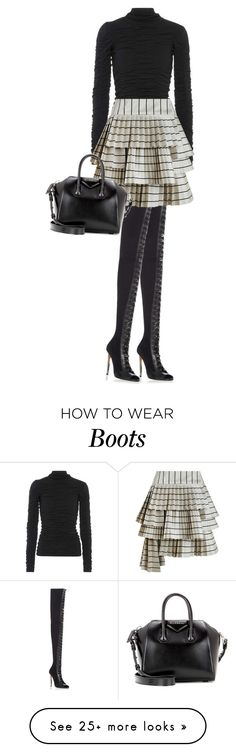 """Thigh-High Boots"" by cherieaustin on Polyvore featuring Balmain, The Row, Zimmermann and Givenchy"