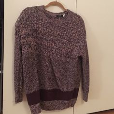 BDG oversized knitted sweater size small Pink and brown BDG oversized sweater. Super comfy and cute with leggings or jeans! Size small/petite. BDG Sweaters Crew & Scoop Necks