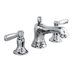 Bancroft Polished Chrome 2-Handle Widespread WaterSense Bathroom Faucet (Drain Included)