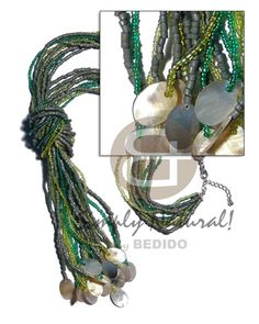 3 Rows Glass Beads & 3 Rows Green Coco Heishe Adjustable Knot & Tassled MOP / 42 In Long Endless Necklace Fashion Accessories, Fashion Jewelry, Adjustable Knot, Native Style, Wood Necklace, Shell Necklaces, Wholesale Jewelry, Stone Jewelry, Philippines