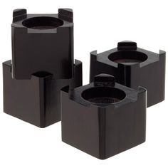 Bed risers, great for dorms or kids rooms to create better access to under the bed storage.