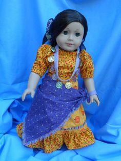 American Girl Doll Gypsy Halloween Costume by SLSewingRoom on Etsy, $25.00