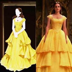 """La Bella y la Bestia de Disney on Instagram: """"Podéis ver nuevos vídeos sobre la película en el blog (enlace en perfil) incluyendo un reportaje sobre el vestido diseñado por Jacqueline…"""""""