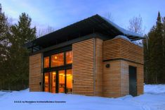 The EDGE cabin features several sustainable initiatives such as such as rainwater collection, geothermal heating and cooling, a heat recovery system, and passive solar windows. You can pick one up from $60,000