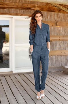 Laura Scott Overal #denim #fashion #womenswear