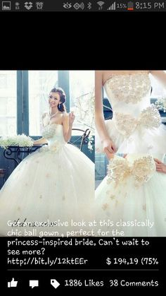 Beautiful dress but I will take off the bow