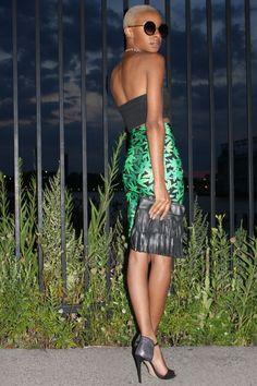 Walk on the Wild Side :: Blake Von D 2-Tone Weed Leaf Skirt by MessQueen New York
