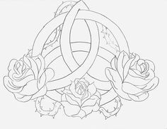 Celtic Triquetra Rose by TriquetraCeltic DesignsLine Drawings Tattoo FlashCeltic KnotsTattoo . Celtic Triquetra, Celtic Symbols, Celtic Art, Celtic Knot Tattoo, Small Celtic Tattoos, Trinity Knot Tattoo, Celtic Mandala, Celtic Knots, Irish Celtic
