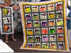 Happy Scrappy Houses from the free patterns tab at the top of the blog http://quiltville.blogspot.com