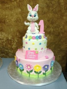 Easter Bunny Birthday Cake By Anicaro on CakeCentral.com