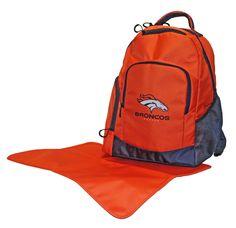 Denver Broncos Diaper Backpack - Lil Fan