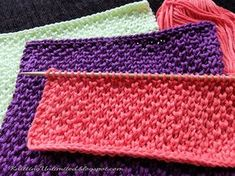 Knitted Dishcloth pattern #12: Peal Brioche stich