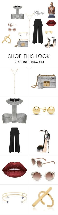 """iAdore Pants"" by everything4love on Polyvore featuring Fragments, Gucci, Jewelonfire, Roland Mouret, Jimmy Choo, Lime Crime, Gibson and Schield Collection"