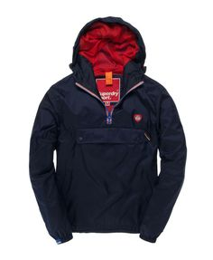 New Mens Superdry Overhead Cagoule Jacket Imperial Navy AA