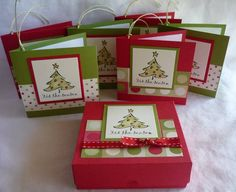 mini pizza box and gift tags by - Cards and Paper Crafts at Splitcoaststampers 3d Christmas, Christmas Paper Crafts, Christmas Gift Tags, Holiday Cards, Stampin Up, Handmade Gift Tags, Craft Show Ideas, Small Cards, Winter Cards