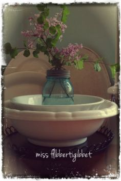 Love blue mason jars