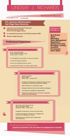 resume sample realtor piktochart infographic
