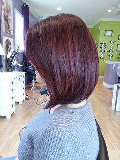 Davines. Red hair. Long bob. Retro Southern Pines.