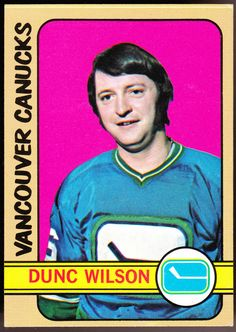 VANCOUVER CANUCKS 1972-73 TOPPS DUNC WILSON EXEX+ CONDITION FREE SHIPPING #VancouverCanucks