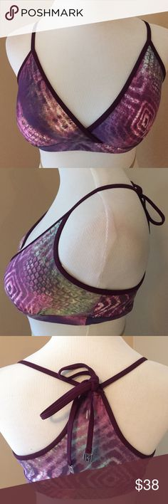Koral Activewear Unique Patterned Sports Bra So cute and fun! Ties in the back : NWOT Nordstrom Intimates & Sleepwear Bras