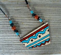 Bohemian Style Necklace Southwestern Jewelry by BrownIrisCreations, $32.00