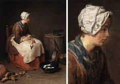 Mujer pelando nabos, 1738, Jean Siméon Chardin, Washington, National Gallery