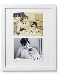 Place a photo of  your grandma with your mom, and a photo of  your mom with you. Then me and my children... New way to show generation photo when not able to do one in person.  This would be a wonderful gift for my mom and grandma.