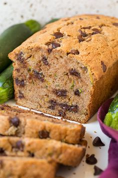 Sixloaves later I've finally found my idea of the perfect Chocolate Chip Zucchini Bread! I'm not complaining though, nor are my kids, that just meant six
