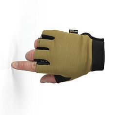 Free Soldier Cycling Camping Racing Antiskid Half Finger Nylon Gloves Wolf Brown XLarge -- Be sure to check out this awesome product.