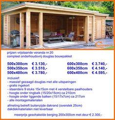 prijzen vrijstaande veranda met plat dak