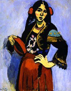 Spanish Girl with Tambourine / Henri Matisse - 1909