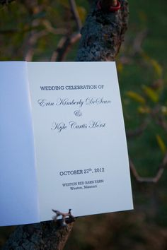 Page Wedding Program Template With Vintage Typography  Booklet