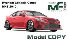 Hyundai Genesis Coupe HKS 2010 - 3D Model (3ds, 3dm, dwg, igs, max, obj, stl, ipt, ma)