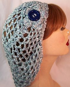 Women's Hat  Crocheted Renaissance SNOOD by noradoramora on Etsy, $20.00