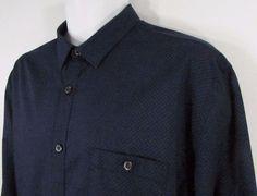 Men Axist Casual Shirt Long Sleeve Cotton Blend Shirt sz XL