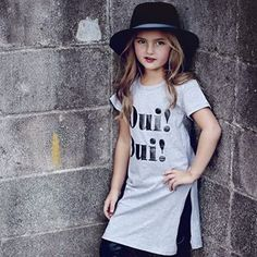 Oui Oui Its FridayThis little cutie couldnt look anymore perfect for the weekend Oui Oui Tshirt dress is such a perfect little top to dress up or down Hope everyone has a great weekend