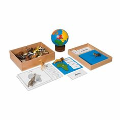 The Nienhuis Montessori animal continent box set is a first introduction to animal species from each of the world's seven continents. Puzzle, Leaf Cards, 7 Continents, Montessori Classroom, Montessori Materials, Animal Species, Plastic Animals, Name Cards, Kids House