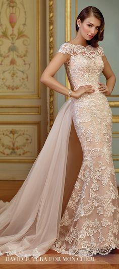Blush Wedding Dress - David Tutera for Mon Cheri 2017