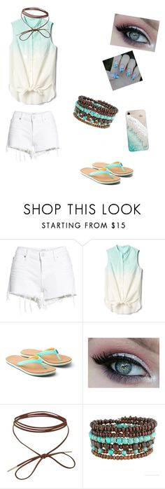 """Ally's summer outfit"" by sweets10001 ❤ liked on Polyvore featuring Hudson Jeans, Gap, Hari Mari and Gray Malin"