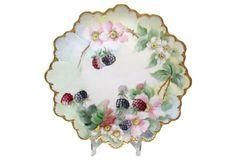 Rosenthal Plate w/Raspberries & Blossoms