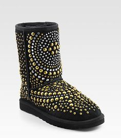 these are special addition JIMMY CHOO UGGS. really cute but i think personally they are a bit hard to wear with everything