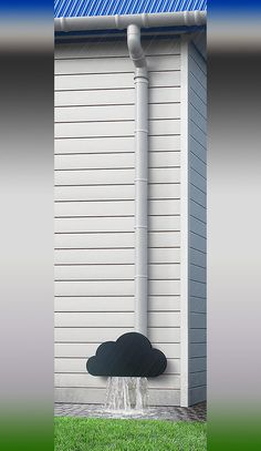 Storm Cloud Downspout, Designed by Russian industrial designer Дмитрий Куляев for Art Lebedev studio.