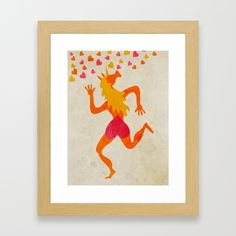 Love you from the bottom of my heart Framed Art Print