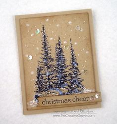 Wintery Trees and Rocks by nyingrid - Cards and Paper Crafts at Splitcoaststampers
